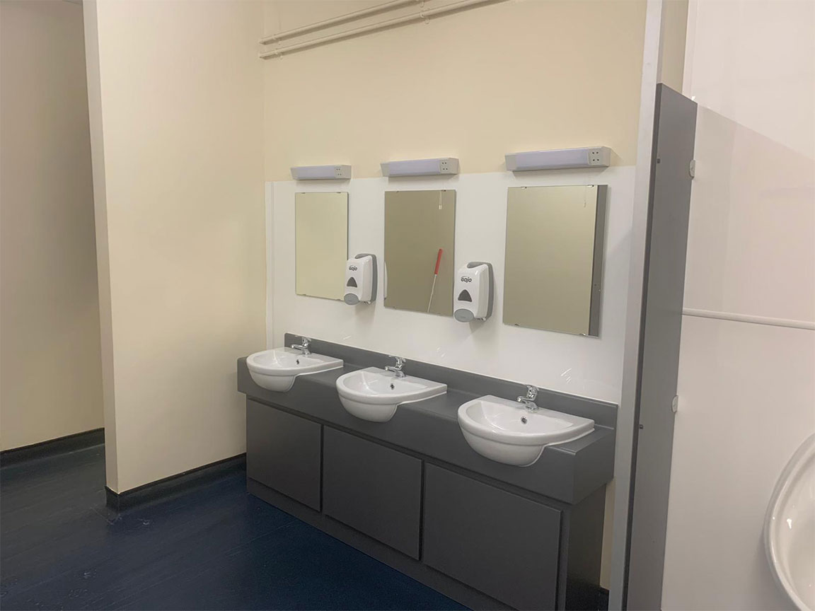 West Midlands Fire Service toilet and shower block refurbishment