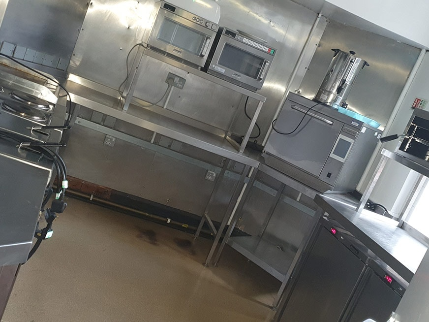 Professional Clean of Trade Kitchen and Living Quarters