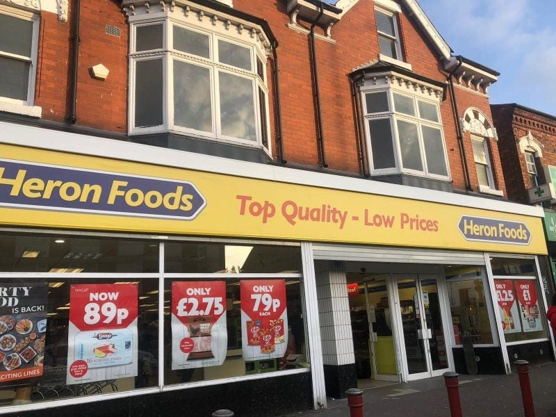 Heron Foods Guttering, Joists and Signage Replacement