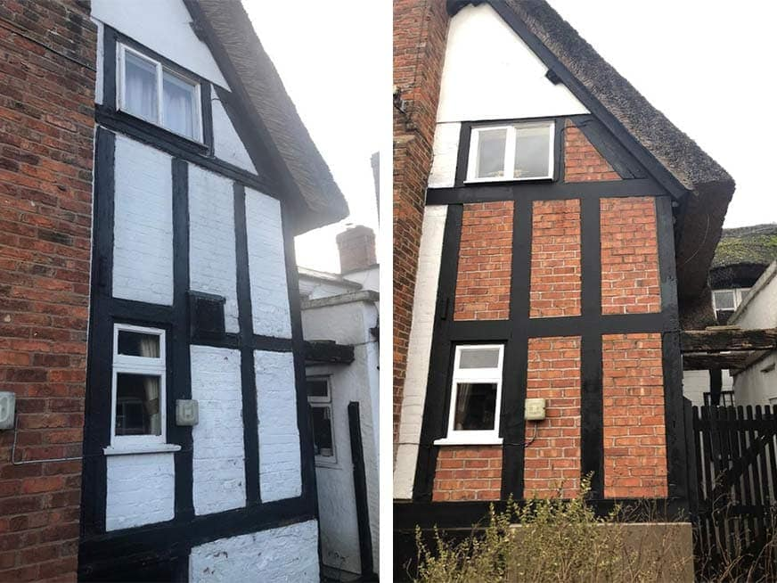 Gable End Works to The Thatch Inn Pub in Nantwich