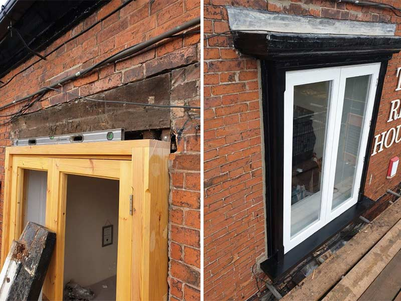 Window Replacement at The Red House Hotel in Caverswall