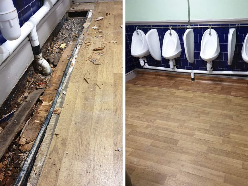 Toilet Floor Replacement in Wrexham
