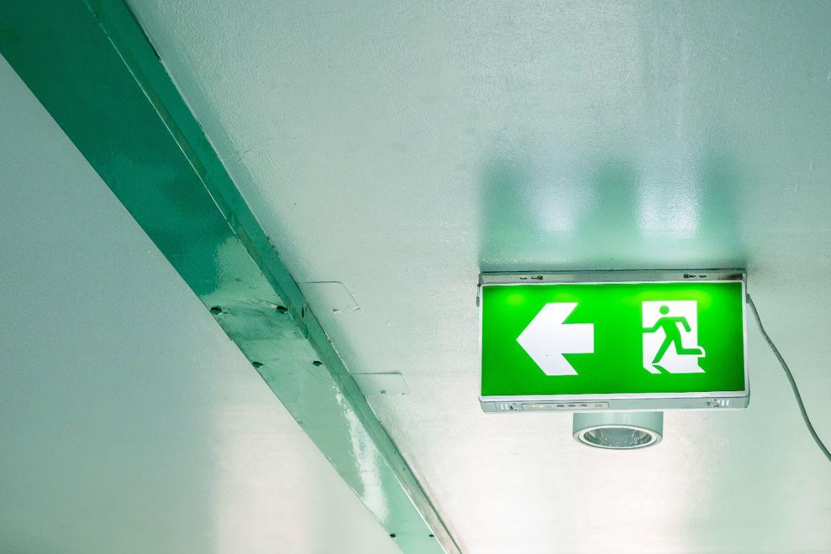 Fire Door Contractors showing fire exit